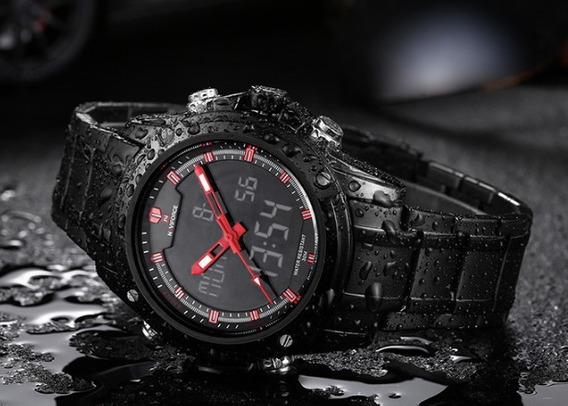 Relógios Naviforce De Luxo Aço Inóx Quartz