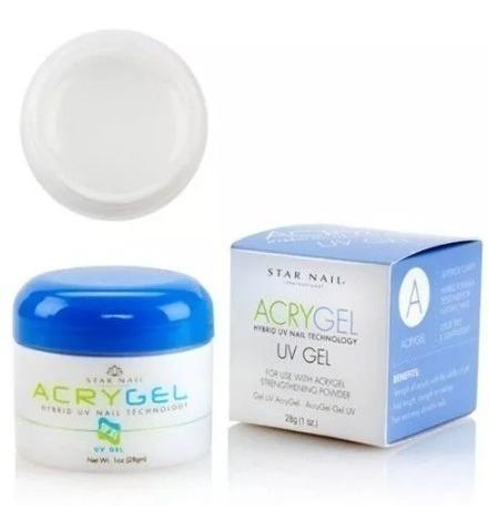 Gel Acrygel Uv Star Nail Clear 28g Clear Transparente Unhas