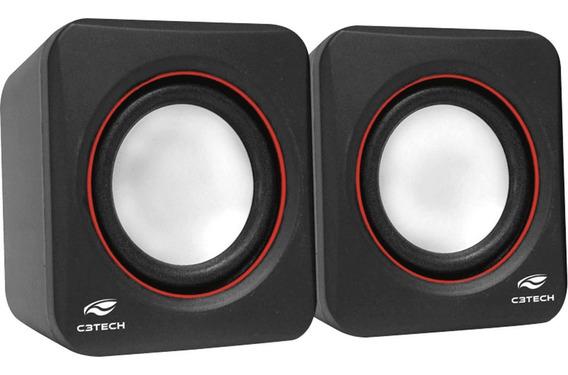 Caixa De Som C3tech Sp-301bk 2.0 3w
