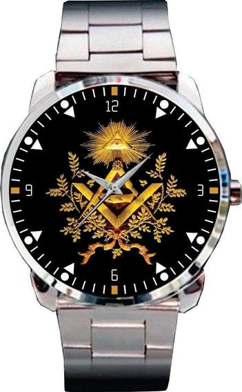 Relógio De Pulso Personalizado Maçonaria Maçon - Cod.mçrp037