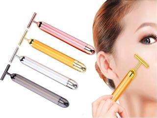 Masajeador Facial Eléctrico 24k Antiarrugas Tonifica Drena