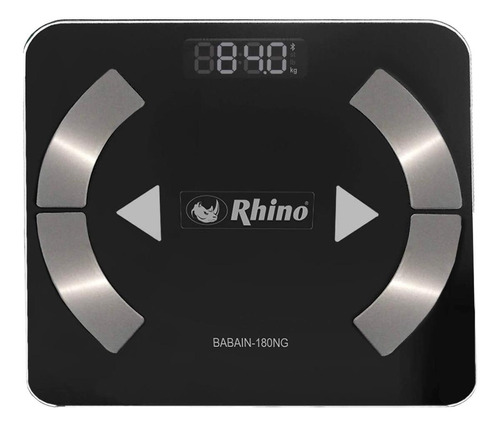Imagen 1 de 2 de Báscula digital Rhino BABAIN-180 negra, hasta 180 kg