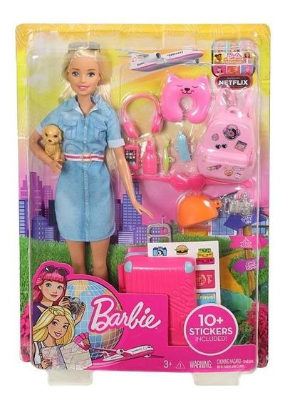 Barbie Boneca De Viagem - Mattel Fwv25