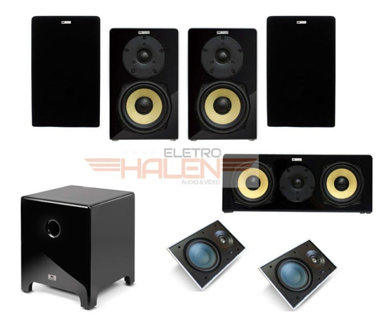 Kit Aat Home Theater Dolby Atmos 5.1.2 - Bsf-100 Cube 10
