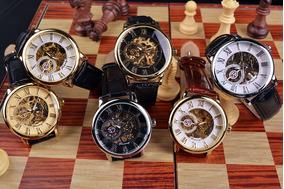 Relógio Masculino Mecânico Skeleton Forsining