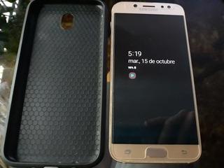 Samsung J7 Pro 32gb Dorado Con Funda Y Vidrio Efv Lector Hue