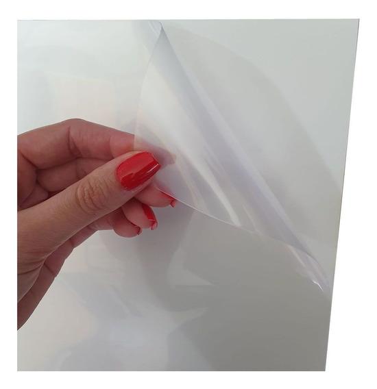 20 Papel A4 Adesivo Vinil Transparente Pra Jato De Tinta