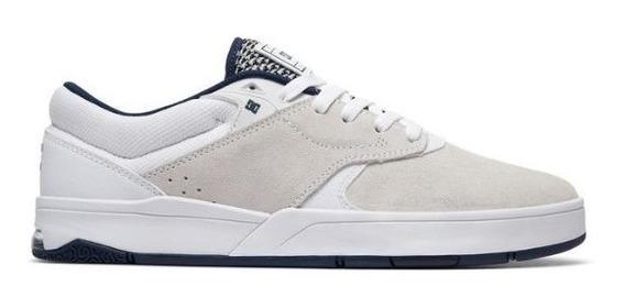 Tenis Dc Shoes Tiago S Imp White/navy Original Frete Gratis