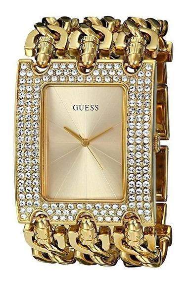 Relógio Guess W0315l2 U0085l1 Dourado Strass 3 Correntes