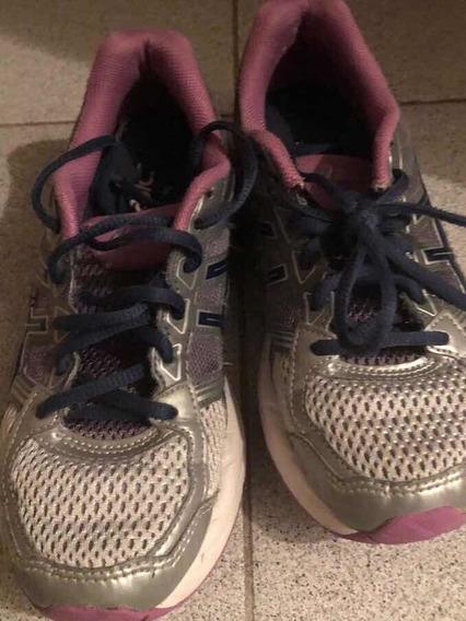 Zapatillas Asics Buen Estado Talle 22cm Cuarentena