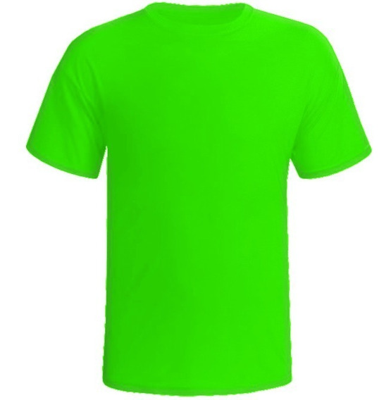 Camiseta Masculino/feminino Gola Redonda Liso Curta 4 Pç