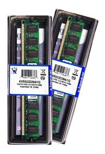 Memória Kingston Ddr2 1gb 533 Mhz Desktop 16 Chips 1.8v
