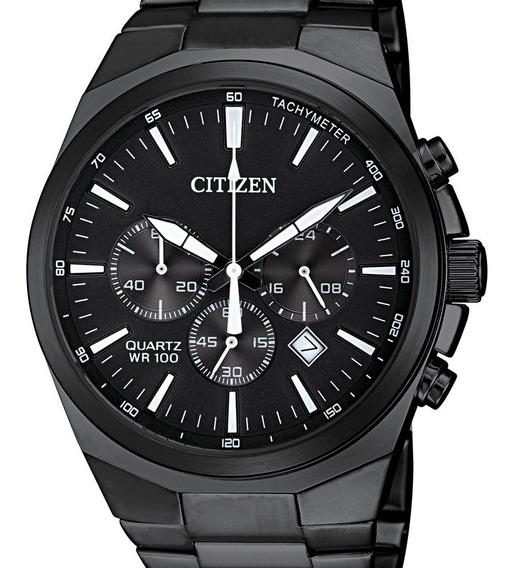 Reloj Hombre Citizen An8175-55e Acero Pavonado Crono Cuarzo Diseño Deportivo