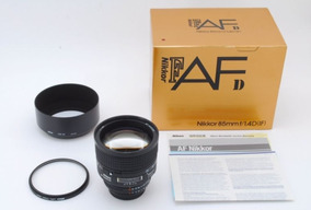 Lente Nikon Nikkor 85mm F/1.4 1.4 Af D If Retrato - Na Caixa