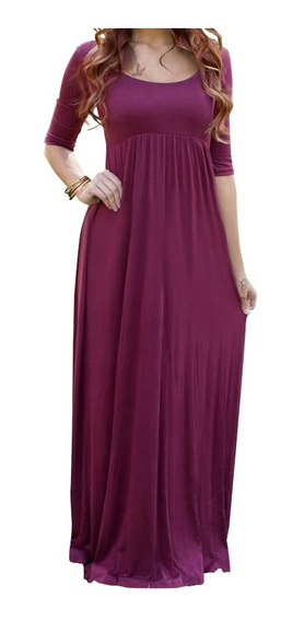 Vestido Largo Casual Para Dama Du