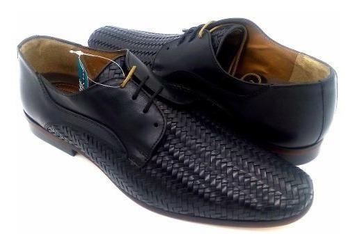 Zapatos Para Hombre Santini 22202-1 Atanado Boston Negro