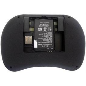 Mini Teclado Air Mouse Touch Sem Fio Tv Box Wireless Com Led