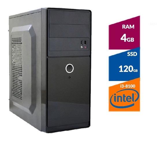 Pc Intel I3-8100 8ª Ger 3,6 Ghz , 4gb Memoria, Ssd120gb Nfe