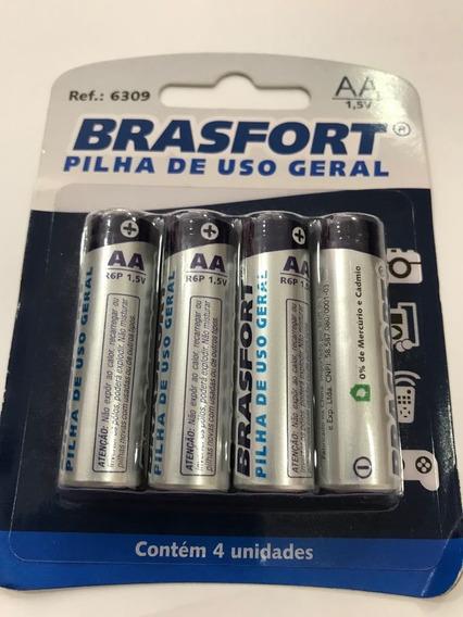 Pilha Brasfort Comum Aa 1.5v Com 4 Pilhas