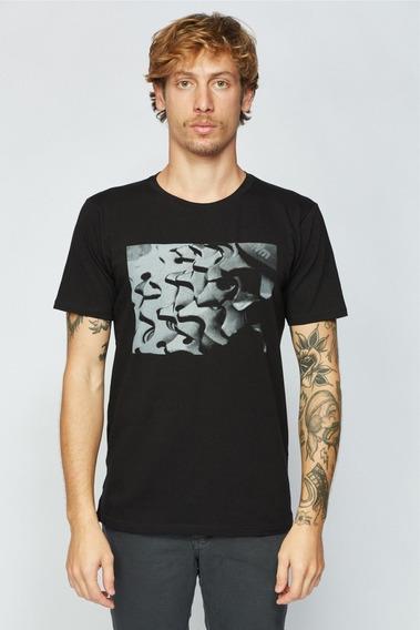 Camisa Sense Casual Wear T-shirt Camiseta Masculino Preto
