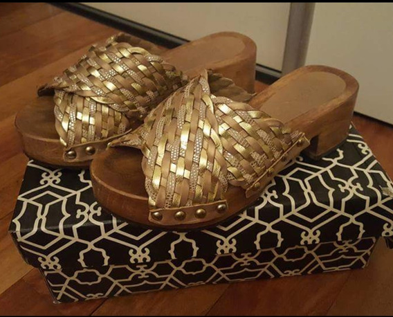 Zapatos Sandalias Paruolo Dorados Numero 35