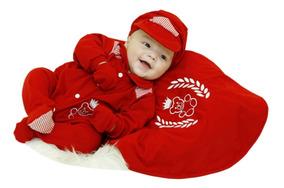Kit Bebê Saída Maternidade Menino Enxoval Ursinho Vermelho