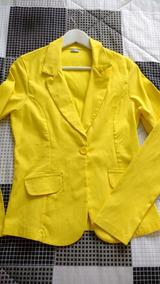 Blazer Amarelo Miroa M Strech