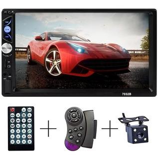 Auto Estereo Bluetooth Pantalla Touch 7 Pulgadas Mirror Link 2 Din Con Control De Volante + Camara De Reversa