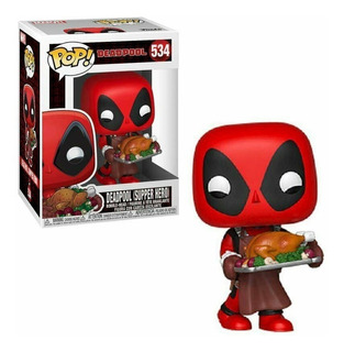 Funko Pop Marvel Holiday Deadpool With Turkey