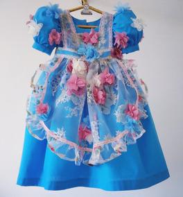 Vestido De Festa Infantil- Tema Alice No País Das Maravilhas