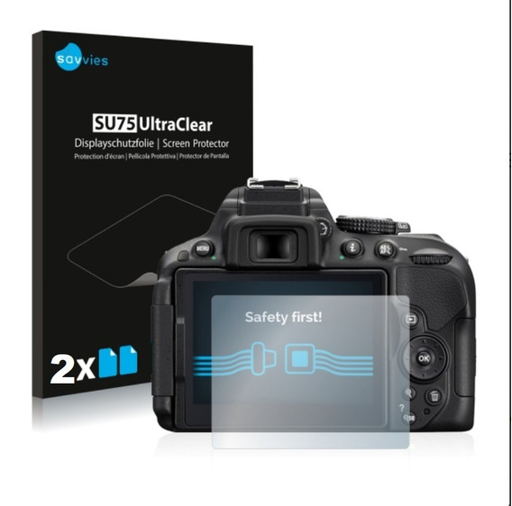 2 Pc Película Alemã Plástica Savies Lcd Nikon D5500