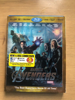 Avengers Bluray 3d, Bluray Y Dvd Con Cover Lenticular