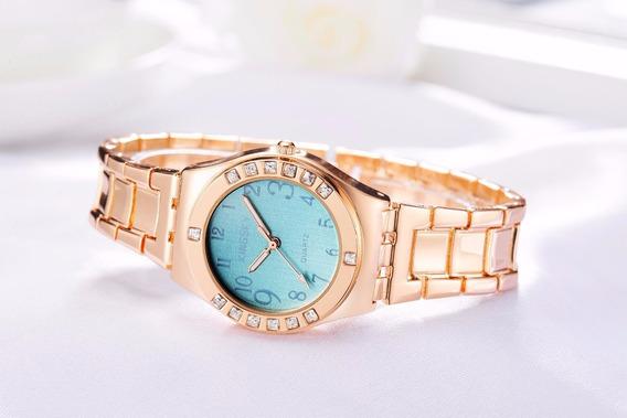 Relógio Feminino Dourado Kingsky