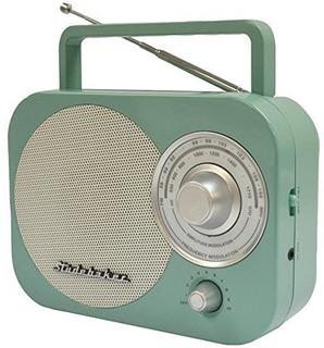Radio Amfm Transportable Studebaker Radio En Color Cerceta,