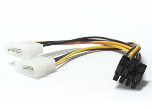 Imagen 1 de 1 de Adaptador Cable Power Placa Video 8 Pines A Molex 4 Pines