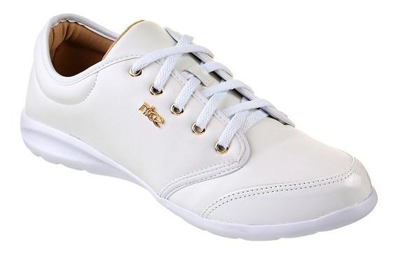 Tênis Feminino Piccadilly Sola Branco Napa Branco 969002