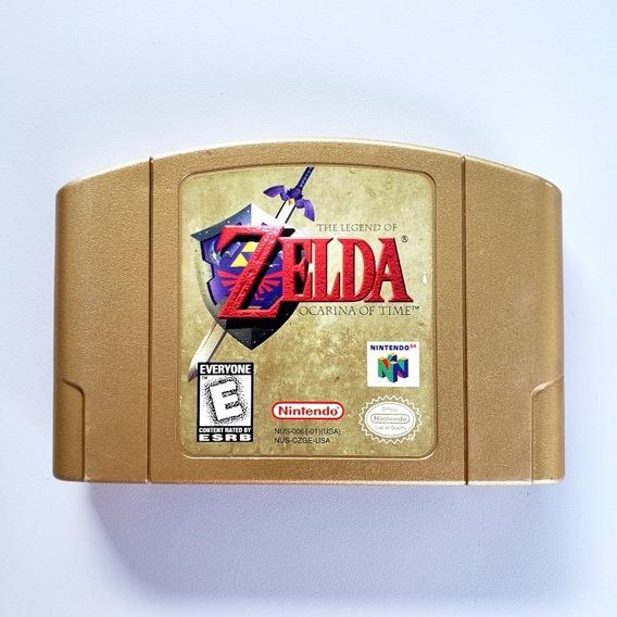 Legend Of Zelda Ocarina Of Time Gold Collector Edition N64