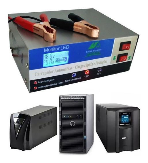 Carregador De Baterias Painel Digital 200amp 12 / 24v Bivolt