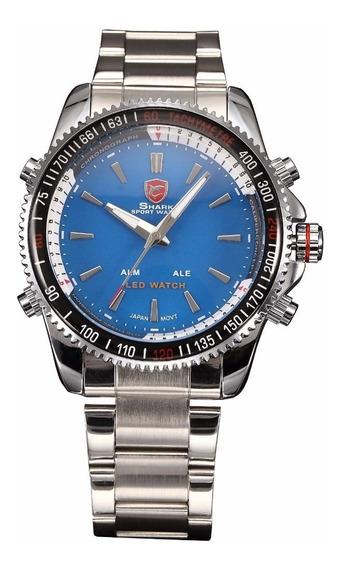 Reloj Shark Original Acero Inoxidable Analogo Y Digital