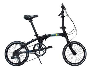 Bicicleta Plegable Lemon Bikes Modelo Dany, Color Negra Mat