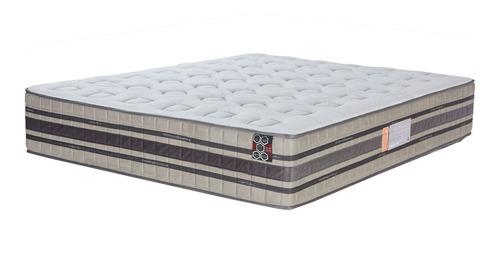 Colchon Queen Resorte Pocket Ortopedico Doble Pillow Top