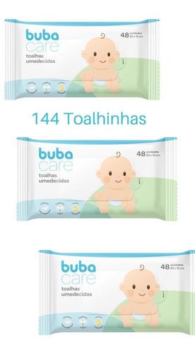 Imagem 1 de 6 de Lenços Umedecidos Toalhas Higiênicas Bebê Buba Care 144unid