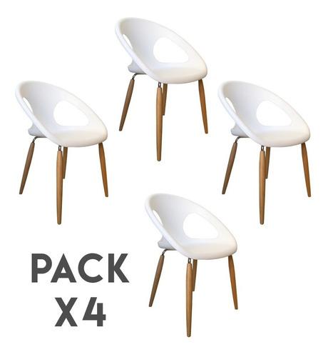 Silla Escandinava Diseño Vanguardia X4 Envio Y Cuotas S/c!