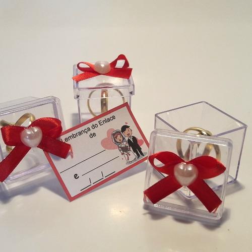 Lembrancinha Casamento Caixinha Com Alianças Kit Com 80