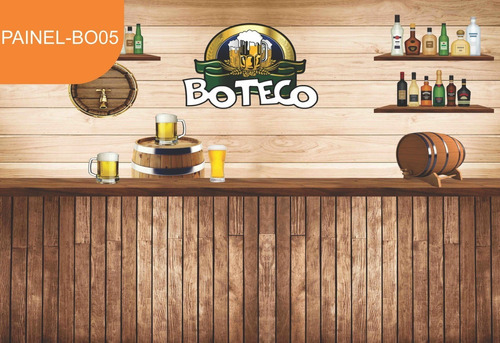 Painel Lona Festa Boteco Bar Bebidas Md02