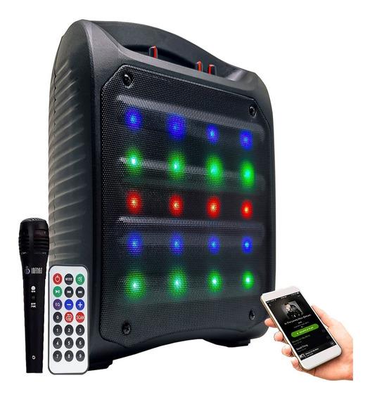 Caixa De Som Amplificada Portátil Bateria Bluetooth Usb 500w