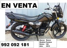 Moto Lineal, Marca Ronco, Modelo Pantera, Motor 150
