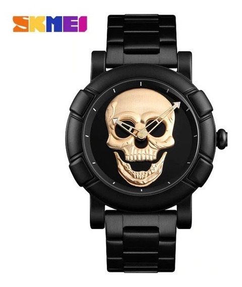 Relogio Skmei Skull Caveira 3d Aço Inoxidavel (invicta,oakle