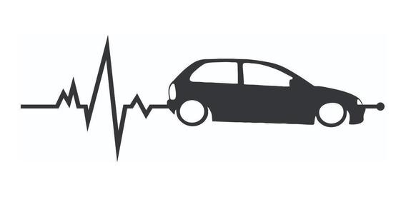 Calco Chevrolet Corsa En Mi Sangre 20 X 7 Cm Graficastuning