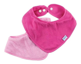 Bandana Bib Pink - Pack X2 -0-9 Meses (rosa Y Rosa Bebé)